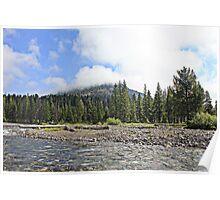 Yellowstone morning Poster