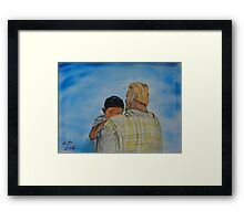 """Father Me""  by Carter L. Shepard Framed Print"