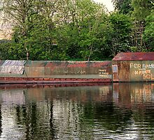 Old Pig Iron Barge by Pauline Tims