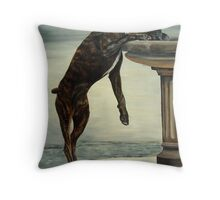 The Drinking Fountain Throw Pillow