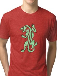 Tiger Strikes Green  Tri-blend T-Shirt