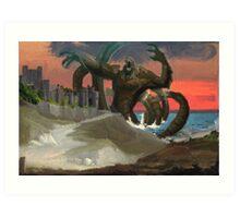 The Kraken Visits Dover Art Print