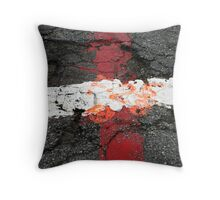 Streets of Blood and Orange Kisses Throw Pillow