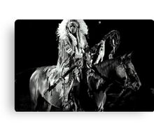 Horseback Danger Canvas Print