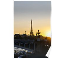 Dusk Falls On Paris Poster