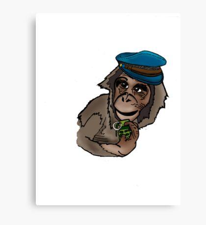 Monkey Wars Canvas Print