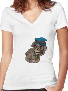 Monkey Wars Women's Fitted V-Neck T-Shirt