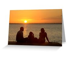 The family at dawn Greeting Card