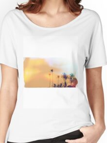 Vintage Palm Trees Women's Relaxed Fit T-Shirt