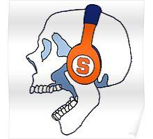 Syracuse Headphones Skull Poster