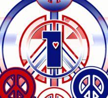 One Love (Patriotic Variant) Sticker