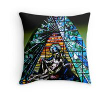 Stained Beauty In Giron Throw Pillow