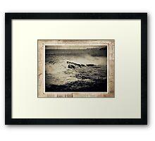 the seaside ~ a nostalgic study I Framed Print