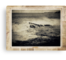 the seaside ~ a nostalgic study I Canvas Print