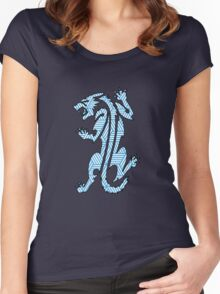Tiger Strikes Blue  Women's Fitted Scoop T-Shirt