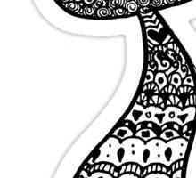Mermaid Tail Zentangle Sticker