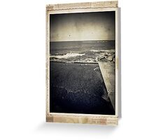 the seaside ~ a nostalgic study II Greeting Card