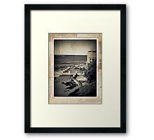 the seaside ~ a nostalgic study III Framed Print