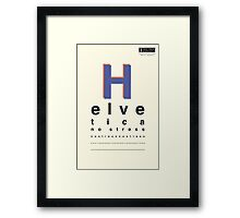 Helvetica, No Stress Framed Print