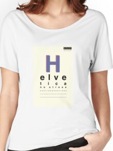 Helvetica, No Stress Women's Relaxed Fit T-Shirt