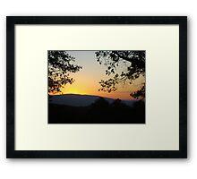 Backyard Sunset ^ Framed Print