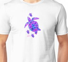 Sea Turtle with babies pink and blue Unisex T-Shirt