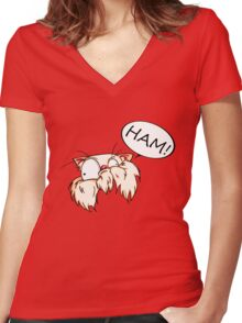 HAM! Women's Fitted V-Neck T-Shirt