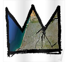 "Basquiat ""King of Tel Aviv-Yafo Israel"" Poster"