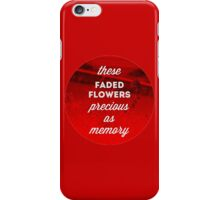 Faded Flowers (red) iPhone Case/Skin