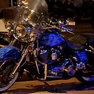 Blue Harley by phil decocco