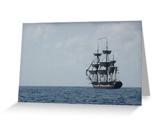 HMS Surprise in the distance Greeting Card