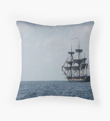 HMS Surprise in the distance Throw Pillow
