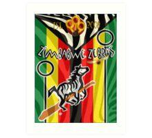 Zimbabwe Zebras Quidditch Team Art Print