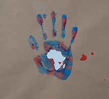 Blue and Red Handprint  by The Street Child Project