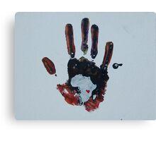 Dark Handprint Canvas Print