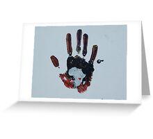 Dark Handprint Greeting Card