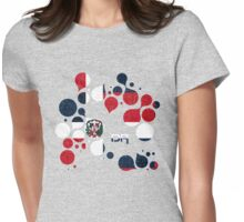 Dominican Republic Flag Circles Womens Fitted T-Shirt