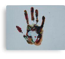 Rainbow Handprint Canvas Print