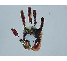 Rainbow Handprint Photographic Print
