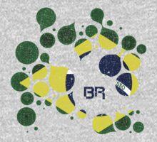 Brazil Flag Circles by CreativoDesign