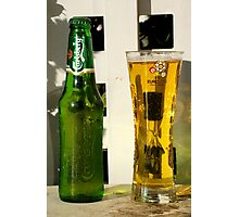 Carlseberg bottle and glass Photographic Print