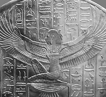 Goddess Isis in Black and White by AnkhaDesh