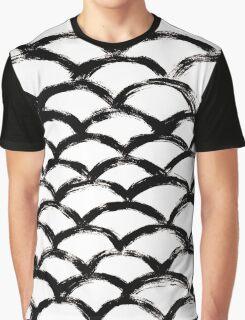 Handpainted Brush Texture Graphic T-Shirt