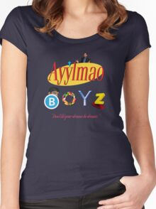 Ayy LMAO Boyz - Official Crew Shirt - Extra Meme Edition Women's Fitted Scoop T-Shirt