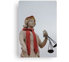 A warm statue in the port Canvas Print