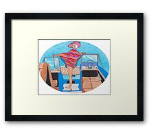 Fancy Boat Lady Framed Print