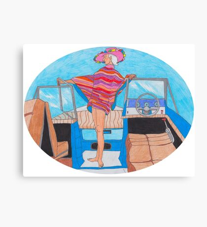 Fancy Boat Lady Canvas Print