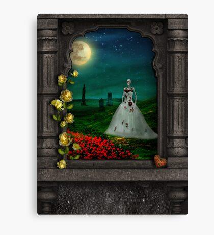 """Dia De Los Muertos """"The Bride"""" Canvas Print"""