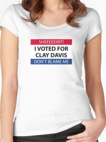 I voted for Clay Davis Women's Fitted Scoop T-Shirt