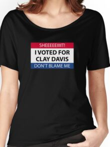 I voted for Clay Davis Women's Relaxed Fit T-Shirt